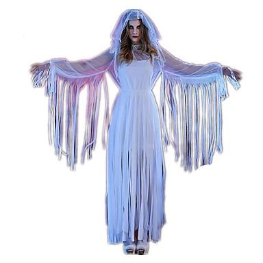 Bloody Mary Kleid Cosplay Kostüme Haloween Figuren Damen Halloween Karneval Fest / Feiertage Halloween Kostüme Weiß Vintage