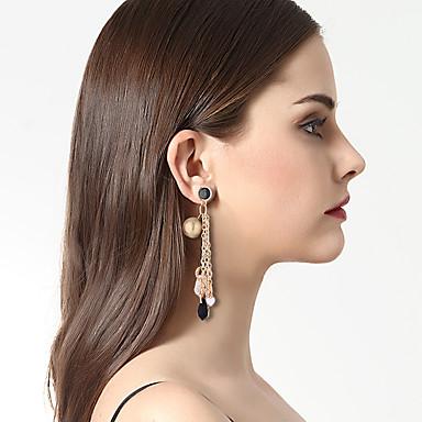 Női Luxus / Eltérés / Bikini Mások Rendhagyó fülbevalók - Luxus / Eltérés / Nyilatkozat Fekete / Piros Geometric Shape Fülbevaló
