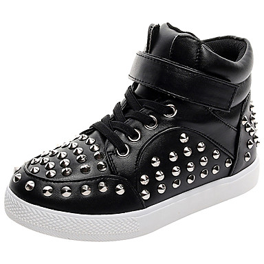Boys' Shoes Leather Fall / Winter Comfort / Light Soles Sneakers Studded for White / Black