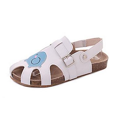 Damen Sandalen Komfort Sommer PU Normal Weiß Beige 5 - 7 cm