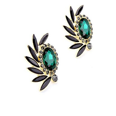 Women's Clip Earrings - Drop Personalized, Vintage, Fashion Forest Green For Daily Stage Formal / Oversized