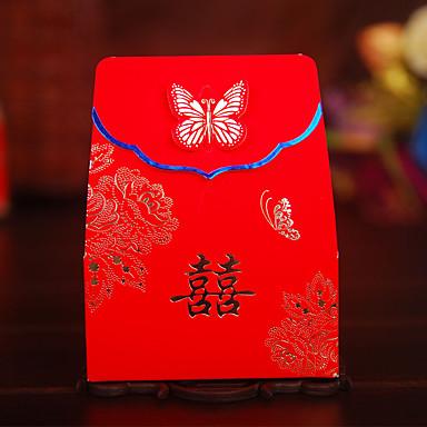 Mások Kreatív Kártyapapír Gyöngy-papír Favor Holder val vel Minta Ajándék dobozok Dísztáskák Ajándékdobozok