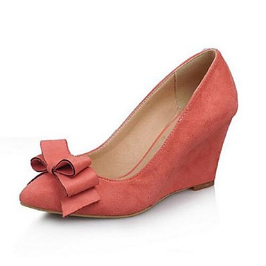 Damen Schuhe Nubukleder Frühling Komfort High Heels Für Normal Schwarz Blau Rosa Burgund