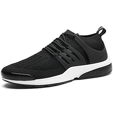 Férfi cipő PU Tavasz / Ősz Kényelmes Sportcipők Gyalogló Fekete / Fekete / fehér / Fekete / Vörös