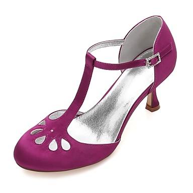 Női Cipő Szatén Tavasz / Nyár Magasított talpú / D'Orsay és kétrészes / Mary Jane Esküvői cipők Cicasarok / Alacsony / Tűsarok Kerek orrú