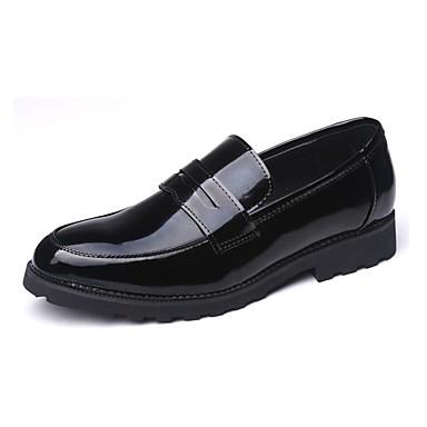 Férfi cipő Lakkbőr Bőr Tavasz Ősz Kényelmes Papucsok & Balerinacipők mert Hétköznapi Fekete