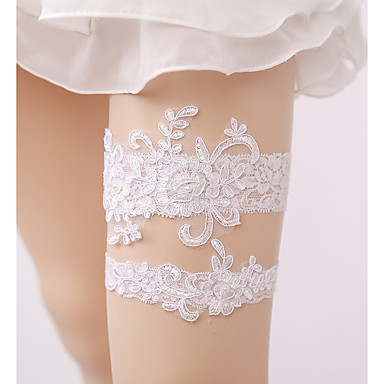 Lace Wedding Wedding Garter with Imitation Pearl Garters