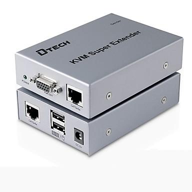 VGA USB Typ B Schalter, VGA USB Typ B to VGA USB 2.0 RJ45 Schalter Buchse - Buchse