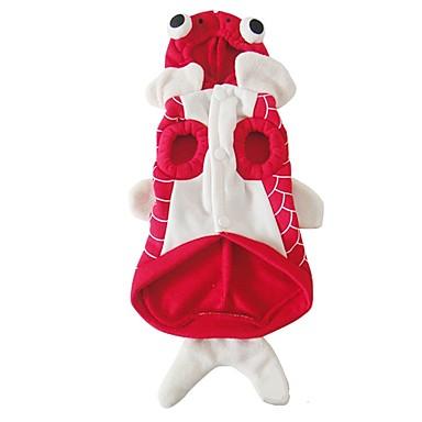 Hund Kostüme Hundekleidung Tier Rot Plüsch Baumwolle Daune Kostüm Für Haustiere Herrn Damen Cosplay