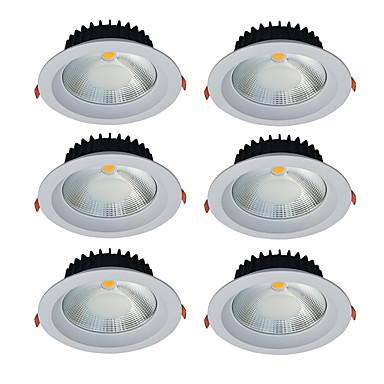 JIAWEN 20W 1 LED Tompítható LED mélysugárzók Meleg fehér / Hideg fehér 85-265V Kereskedelmi / Otthon / iroda