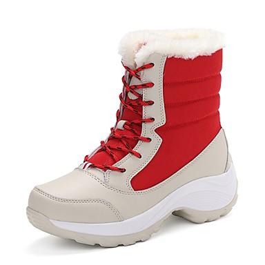 4fb4b50e Для женщин Обувь Ткань Зима Зимние сапоги Модная обувь Флисовая подкладка  Ботинки На плоской подошве Круглый
