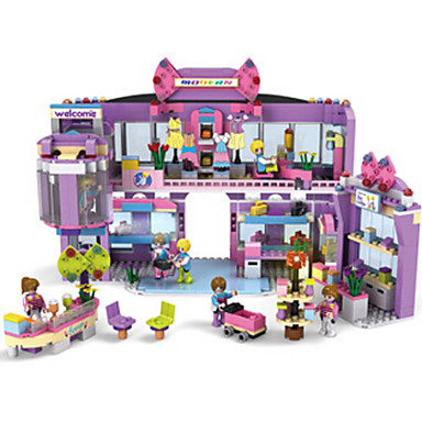 Bausteine Spielzeuge Haus Kunststoff Mädchen Stücke