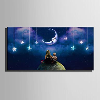 LED-es vászon dekor Egy elem Vászon Vízszintes Nyomtatás fali dekoráció lakberendezési