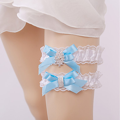 Nylon Lace Wedding Wedding Garter with Rhinestone Garters