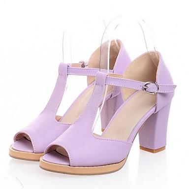 Damen Schuhe PU Sommer Komfort Sandalen Für Normal Beige Purpur Rosa