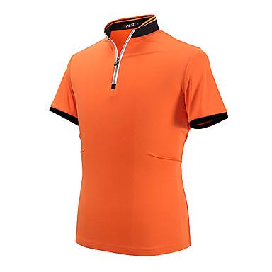 Pánské Krátký rukáv Golf Polo trička Vrchní část oděvu Proti vráskám Prodyšné Pohodlné Golf