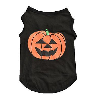 Dog Vest Dog Clothes Pumpkin Cotton Costume For Pets Summer Men's / Women's Halloween