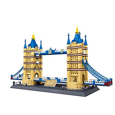 WAN GE Bausteine Modellbausätze Spielzeuge Berühmte Gebäude Architektur London Bridge Kunststoff Stücke