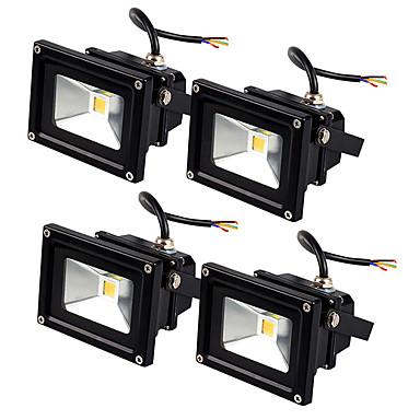 JIAWEN 4pcs Led Floodlight 10W Outdoor Spotlight Flood Light Waterproof IP65 Professional Lighting Lamp AC85-265V