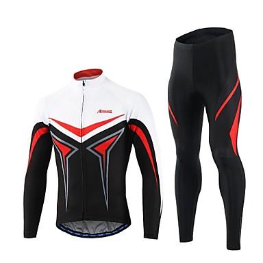 Arsuxeo Férfi Kerékpáros dzsörzé nadrággal - Sárga Piros Bike Ruházati kollekciók, Gyors szárítás