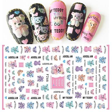 1 pcs 3D Nail Stickers Nail DIY Tools Stickers nail art Manicure Pedicure 3D Fashion Daily
