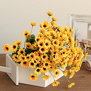 Fleurs artificielles 1 Une succursale style pastoral Plantes Fleur de Table