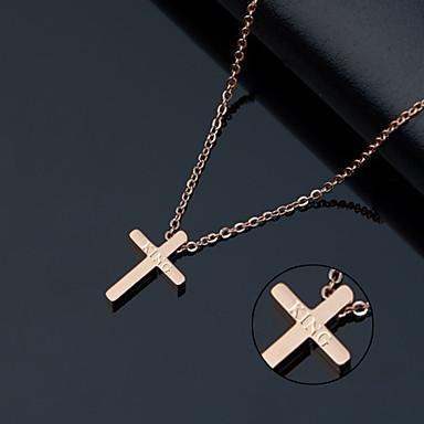 Személyre szabott ajándékot Nyaklánc Titanium Acél Női Egyszerű Geometrijski oblici Alkalmi Alap Ajándék Európai Modern/kortárs Vallásos