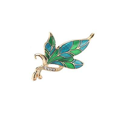 Férfi / Női Hipoallergén Leaf Shape Szintetikus gyémánt Melltűk - Klasszikus / Hipoallergén / Divat Különböző színekben Bross