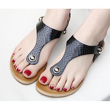 Damen Schuhe Polyamid-Faser PU Frühling Sommer Komfort Sandalen Für Normal Schwarz Mandelfarben