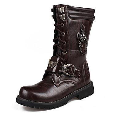 Herrn Schuhe Künstliche Mikrofaser Polyurethan PU Winter Herbst Modische Stiefel Springerstiefel Komfort Neuheit Stiefel Walking