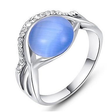 Damen Eheringe Bandringe Synthetischer Opal Strass Personalisiert Luxus Klassisch Grundlegend Elegant nette Art Hip-Hop Modisch Rock