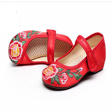 Mädchen Sandalen Komfort Sommer Stoff Normal Rot Grün Rosa Unter 2,5 cm