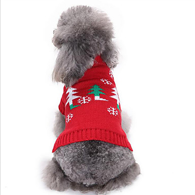 Dog Sweater Dog Clothes Christmas Cotton Costume For Pets Men's / Women's Casual / Daily