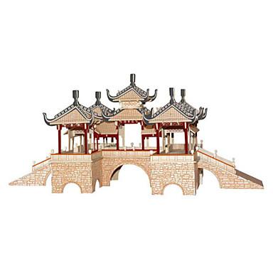 3D építőjátékok Fejtörő Wood Model Népszerű épület DIY Fa Kínai stílus Gyermek Uniszex Ajándék