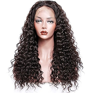 Remy Human Hair Glueless Lace Front / Lace Front Wig Curly Wig 130% / 150% / 180% Natural Hairline / African American Wig / 100% Hand Tied Women's Short / Medium Length / Long Human Hair Lace Wig