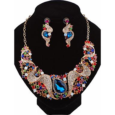 Damen Tropfen-Ohrringe Halskette Personalisiert Luxus Modisch Hochzeit Party Geburtstag Verlobung Geschenk Alltag Zeremonie Bühne Aleación