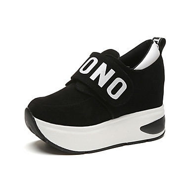Women's Shoes Fabric Spring / Fall Comfort Sneakers Flat Heel Black / Gray / Red