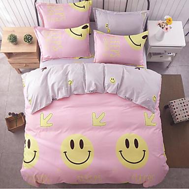Cartoon Design 4 Stück Baumwolle Baumwolle 1 Stk. Bettdeckenbezug 2 Stk. Kissenbezüge 1 Stk. Betttuch