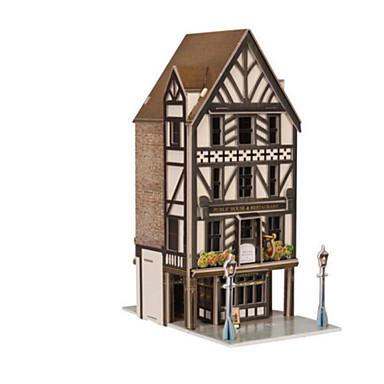 3D építőjátékok Fejtörő Papírmodell Népszerű épület Lakberendezési cikkek Fa Uniszex Ajándék