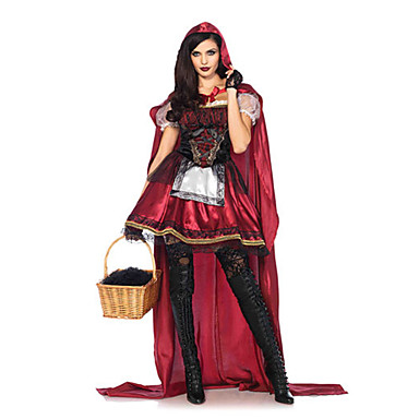 Little Red Riding Hood Cosplay Costume Masquerade Women's Christmas Halloween Carnival Festival / Holiday Outfits Red Other Vintage