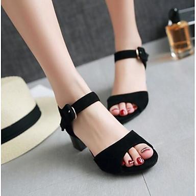 Damen Schuhe PU Sommer Komfort Sandalen Für Normal Schwarz