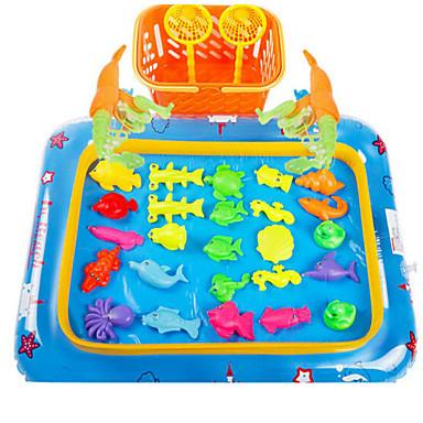 Magnetspielsachen Angeln Spielzeug Spielzeuge Kreisförmig Fische Elektrisch Kunststoff Kinder Geschenk 1pcs