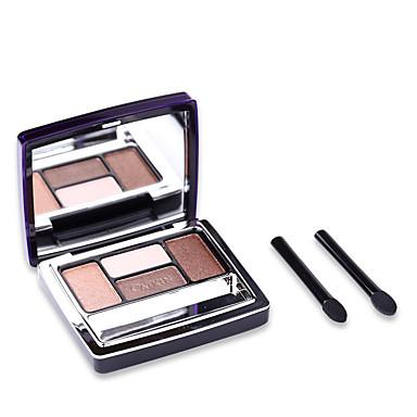 4 Lidschattenpalette Schimmer Lidschatten-Palette Puder Alltag Make-up Party Make-up Smokey Makeup