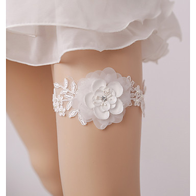 Lace Wedding Wedding Garter With Imitation Pearl / Floral Garters