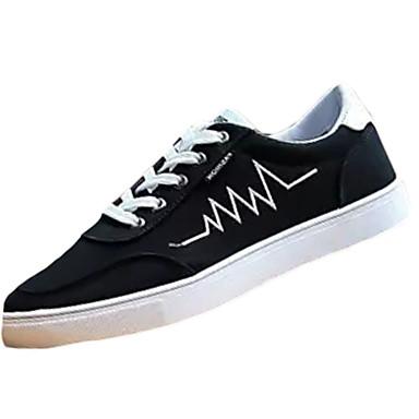 Herrn Schuhe Gummi Frühling Herbst Komfort Sneakers Schnürsenkel für Draussen Weiß Schwarz Dunkelblau Rot