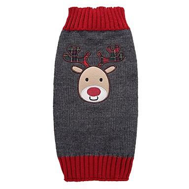 Kutya Kabátok Pulóverek Kutyaruházat Karácsony Szürke Akrilszálak Jelmez Háziállatok számára Férfi Női Party Casual/hétköznapi Szabadság