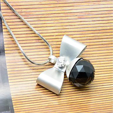 Damen Schleifenform Strass Anhängerketten - Personalisiert Modisch Schleifenform Schwarz Modische Halsketten Für Hochzeit Party