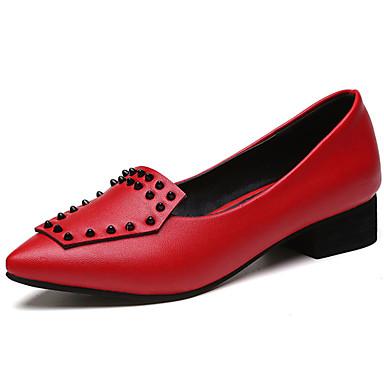 Damen Flache Schuhe Komfort Sommer PU Normal Schnalle Flacher Absatz Schwarz Dunkelgrau Rot Flach