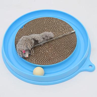 لعبة للقطة ألعاب الحيوانات الأليفة متفاعل لعب الفأر جذاب لوح التقطيع بلاستيك للحيوانات الأليفة