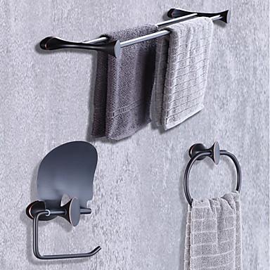 Bad Zubehör-Set Modern / Zeitgenössisch Metal 3 Stück - Hotelbad Toilettenpapierhalter / Turm Bar / Turmring Wandmontage